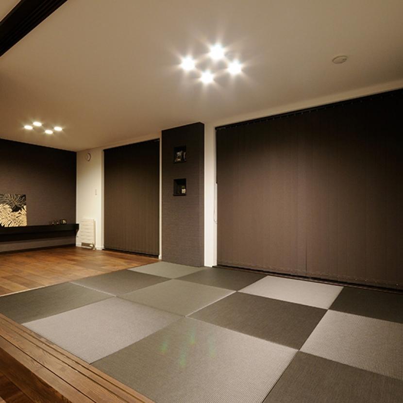 寝室と隣接したくつろぎ空間