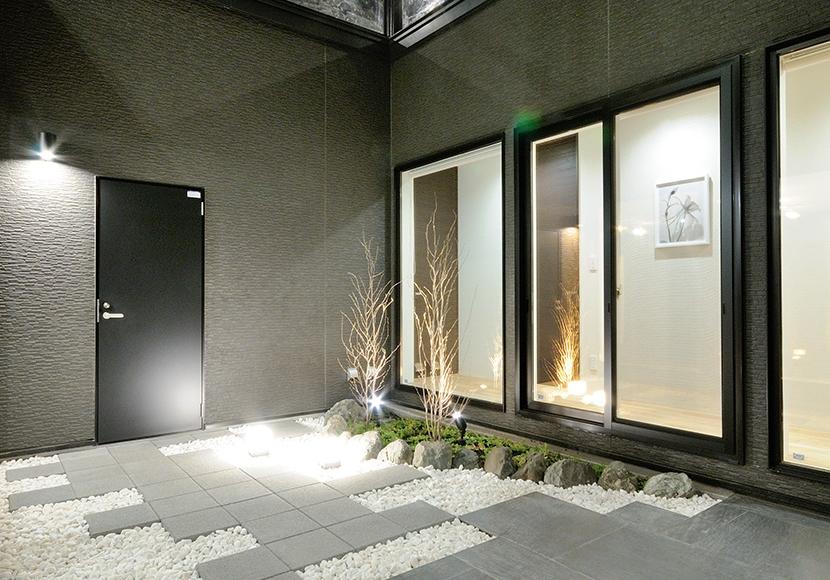 3.開放感のある中庭