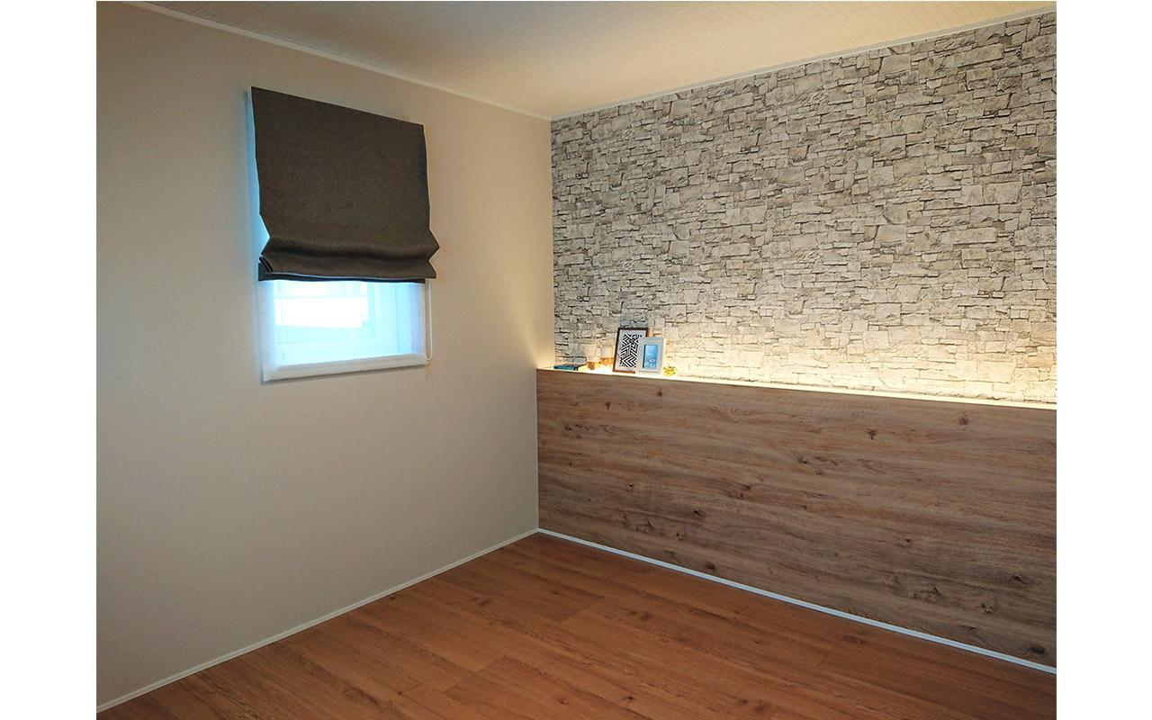 寝室はコーブ照明