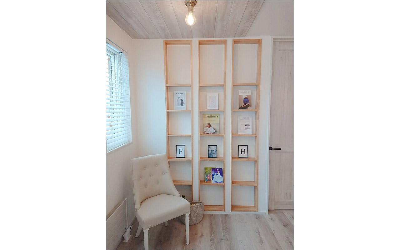 壁厚を利用した本棚